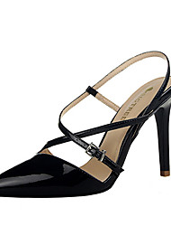 Women's Shoes Leatherette Stiletto Heel Heels Heels Casual Black / Red / White / Silver / Gold / Champagne