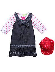 Girl's Blue Clothing Set Cotton Fall