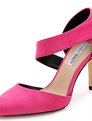 Women's Shoes Fabric Stiletto Heel Heels / Pointed Toe Sandals Party & Evening / Dress / Fuchsia / Khaki