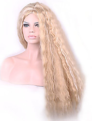 Fashion Synthetic Wigs Blonde Color Long Size Curly Hair Synthetic Wigs