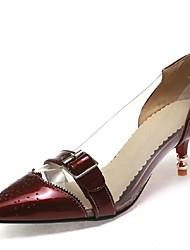 Zapatos de mujer-Tacón Bajo-Tacones / Puntiagudos-Tacones-Oficina y Trabajo / Vestido / Fiesta y Noche-Materiales Personalizados /