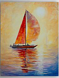 Peint à la main Paysage / Paysages AbstraitsModern Un Panneau Toile Peinture à l'huile Hang-peint For Décoration d'intérieur