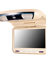 9 Inches Car Flip Down DVD Player in Beige