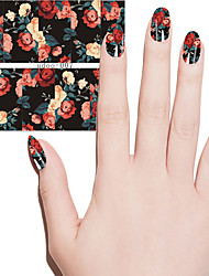 Fashion Women Lovely Flowers Water Transfer Decals Nail Art Sticker Beauty Manicure Diy