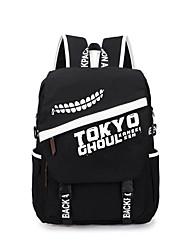 Bolsa Inspirado por Tokyo Ghoul Ken Kaneki Anime Acessórios de Cosplay Bolsa / mochila Preto Tela Masculino / Feminino