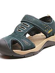 Men's Summer Leather Casual Low Heel Green