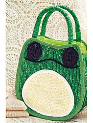 Women Straw Hobo Tote-Green