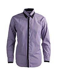 JamesEarl Herren Hemdkragen Lange Ärmel Shirt & Bluse Lila - DA112045818