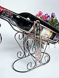 Fashion Art High Quality Wine Rack Retro Wine Holder Home Furnishing Decorations Chrome Plating