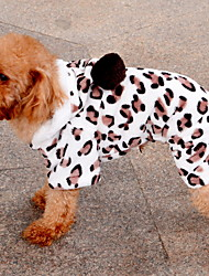 Dog Hoodie Pink Dog Clothes Spring/Fall Leopard Keep Warm