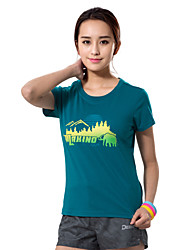 MAKINO® Femme Manches courtes Course / Running Tee-shirt Respirable Eté Vêtements de sportCamping / Randonnée Chasse Pêche Escalade
