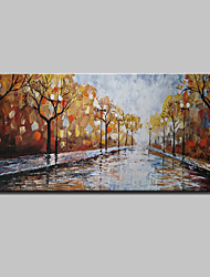 Lager Handmade Landscape Streetscape Oil Painting On Canvas Wall Paintings For Living Room Home Decor Whit Frame
