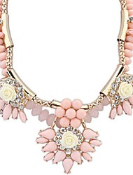 MOGE Vintage / Cute / Party /  Casual Alloy / Imitation Pearl / Resin / Porcelain Statement Necklaces