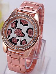 Women's Tide Wild Three-Color Alloy Diamond Dial Watch