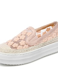 Women's Shoes Lace / Sheepskin Platform Platform / Comfort / Round Toe Loafers Office & Career / Dress / Casual