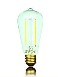 E26 E27 110V 220V 2200K-2700K 100-200Lm ST64 2W 2LED Bulb Edison Retro Led Bulb