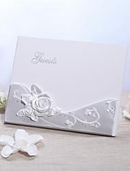Resina Tema Fantástico Tema FloralWithPiedras Libro de Invitados