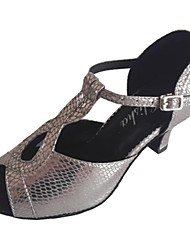 Customizable Women's Dance Shoes Latin/Ballroom Other Customized Heel Silver
