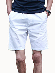 High Quality Men's Shorts,Casual / Sport Solid Cotton / Polyester