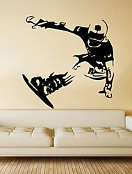 Fashion Skating Skiing  Wall Stickers  Transportation / People / Sports Wall Stickers Plane Wall Stickers,VINYL 57*58cm