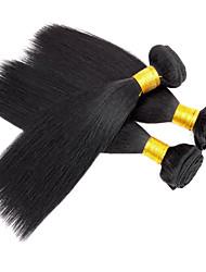 3pcs / lot 110g / pcs yaki 7a 100% brésilienne vierge brute de cheveux humains tisse la trame des paquets de cheveux