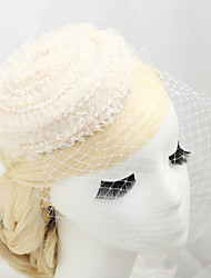 Women's / Flower Girl's Fabric / Net Headpiece-Wedding / Special Occasion Birdcage Veils 1 Piece