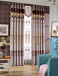 coffee color curtain High Quality hydrotropic embroidery curtain Double layers luxurious curtains  no valance