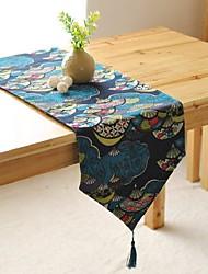 Carré Avec motifs Chemins de table , Mélange Lin/Coton Matériel Tableau Dceoration
