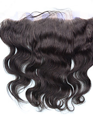 "8""-20"" Full Lace Body Wave Human Hair Closure Medium Brown / Dark Brown Swiss Lace gram Cap Size"