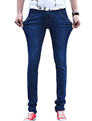 Men's Solid Casual JeansCotton / Polyester Blue ZG-806