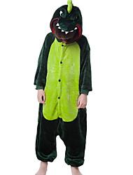 nueva cosplay® franela dinosaurio pijama niños Kigurumi verde (sin zapatos)