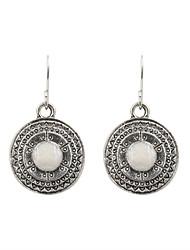 Earring Drop Earrings Jewelry Women Wedding / Party / Daily / Casual / Sports Alloy / Enamel 1 pair Silver