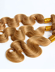 3 Pièces Ondulation naturelle Tissages de cheveux humains Cheveux Péruviens Tissages de cheveux humains Ondulation naturelle