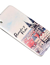 For HTC Case Embossed Case Back Cover Case City View Hard PC HTC
