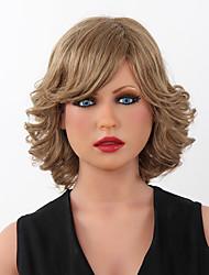 Capless Medium Wavy Human Hair Wigs  9 Colors to Choose