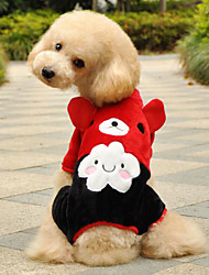 Keep Warm High Quality Lovely Animal Printing Pet Fleece Coat