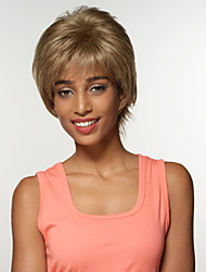 Cool Amazing Short Fluffy Remy Human Hair Capless Hand Tied Top Wigs