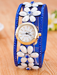 Women's Fashion Golden Disk Shell Ffine Hair Set Auger Belt Strap Watch