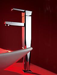Contemporain Set de centre large spary with  Valve en céramique Mitigeur un trou for  Chromé , Robinet lavabo