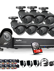 SANNCE® 8CH CCTV System 960H 1TB DVR 8PCS 1000TVL IR Weatherproof Outdoor CCTV Camera Home Security Surveillance Kits