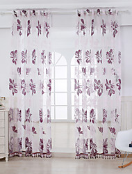 Two Panels Curtain Country Bedroom Rayon Material Sheer Curtains Shades Home Decoration For Window