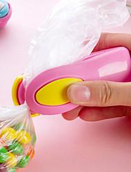 los mini portátiles bolsas de bocadillos de plástico termosellado de desplazamiento de la máquina tipo de presión de la mano