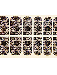 Abstract Black Hot Lace Sticker