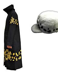 Inspirado por One Piece Trafalgar Law Animé Disfraces de cosplay Trajes Cosplay Estampado Capa Sombrero Para Hombre