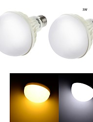 3W E26/E27 Ampoules Globe LED C35 6 SMD 5630 200 lm Blanc Chaud / Blanc Froid Décorative AC 100-240 V 2 pièces