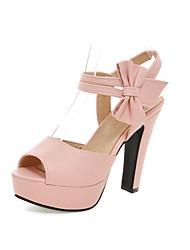 Women's Shoes Chunky Heel Peep Toe / Platform Sandals Party & Evening / Dress / Casual Black / Pink / Purple / Beige