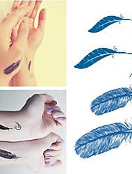 plumes de halloween tatouages autocollants mode imperméables petits autocollants tatouages temporaires pour les bras de manchon d'art corporel