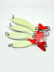 "4pcs pcs Iscas Buzzbait & Spinnerbait Prateado 15g g/1/10 Onça,55mm mm/2-1/8"" polegada,Metal Pesca de Isco"