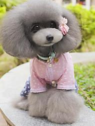 Dog Shirt / T-Shirt Black / Pink Dog Clothes Summer / Spring/Fall Polka Dots Fashion / Casual/Daily