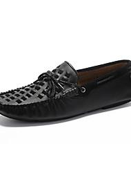 Men's Spring / Summer / Fall / Winter Comfort Leather Casual Flat Heel Slip-on Black / Brown / Yellow